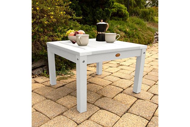 Highwood® Adirondack Outdoor Side Table, White, large