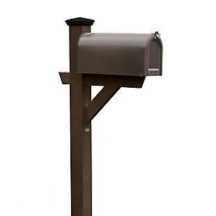 Highwood® Hazleton Outdoor Mailbox Post, Weathered Acorn, large