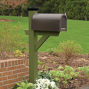 Highwood® Hazleton Outdoor Mailbox Post, Dried Sage, rollover