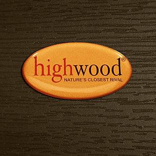 Highwood® Adirondack Outdoor Folding Ottoman, Weathered Acorn, large