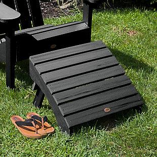 Highwood® Adirondack Outdoor Folding Ottoman, Black, rollover