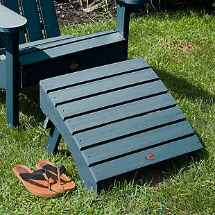 Highwood® Adirondack Outdoor Folding Ottoman, Nantucket Blue, large