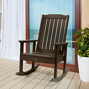 Highwood® Lehigh Outdoor Rocking Chair, Weathered Acorn, rollover