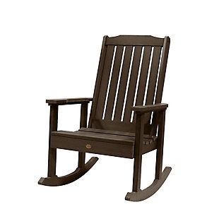 Highwood® Lehigh Outdoor Rocking Chair, Weathered Acorn, large