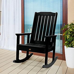 Highwood® Lehigh Outdoor Rocking Chair, Black, rollover