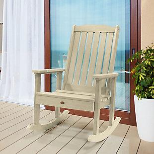 Highwood® Lehigh Outdoor Rocking Chair, Whitewash, rollover