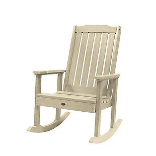 Highwood® Lehigh Outdoor Rocking Chair, Whitewash, large