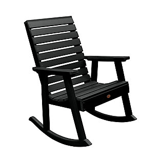 Highwood® Weatherly Outdoor Rocking Chair, Black, large