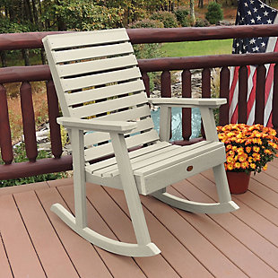 Highwood® Weatherly Outdoor Rocking Chair, Whitewash, rollover