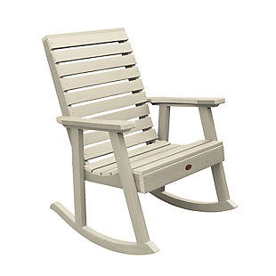 Highwood® Weatherly Outdoor Rocking Chair, Whitewash, large
