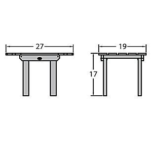 Highwood® Classic Westport Outdoor Side Table, Federal Blue, large