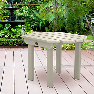 Highwood® Classic Westport Outdoor Side Table, Whitewash, rollover