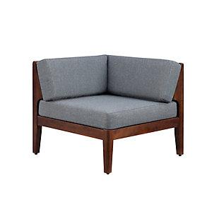 Linon Westwood Corner Chair, Walnut, large