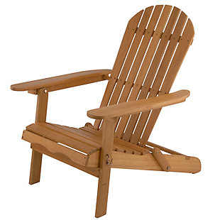 National Tree Company Eucalyptus Grandis Wood Adirondack Chair, , large