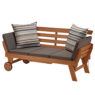 National Tree Company Eucalyptus Grandis Wood Daybed, , large