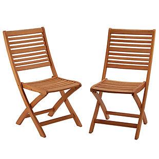 National Tree Company Eucalyptus Grandis Wood Folding Chair (Set of 2), , large