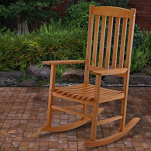 National Tree Company Eucalyptus Grandis Wood Rocking Chair, , rollover