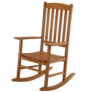 National Tree Company Eucalyptus Grandis Wood Rocking Chair, , large