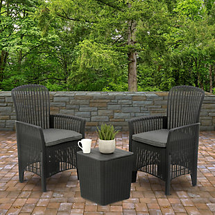 National Tree Company Swansea 3-Piece All-Weather Chat Set, , rollover