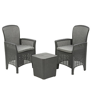 National Tree Company Swansea 3-Piece All-Weather Chat Set, , large