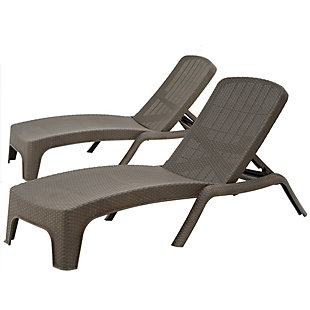National Tree Company All Weather Chaise Lounger (Set of 2), , large