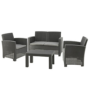 National Tree Company Galloway 4-Piece All-Weather Conversation Set, , large