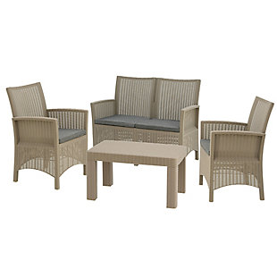 National Tree Company Cardiff 4-Piece All-Weather Conversation Set, , large
