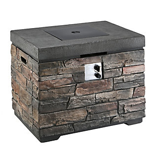 National Tree Company Natural Stone Design MGO Propane Fire Pit Table, , large
