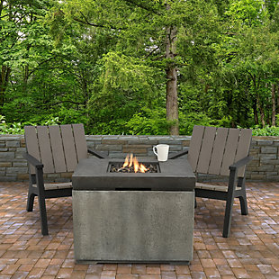National Tree Company Concrete Finish MGO Propane Fire Pit Table, , rollover