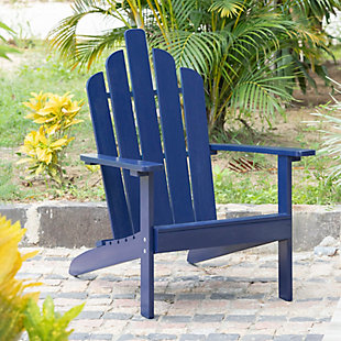 Westin Outdoor Patio Acacia Wood Adirondack Chair, Navy Blue, rollover