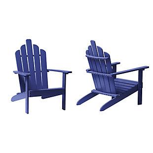 Westin Outdoor Patio Acacia Wood Adirondack Chair, Navy Blue, large