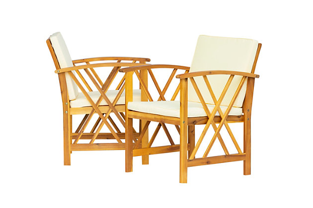 Westin Outdoor Porter 3-Piece Bistro Set With Cushions, Beige, large