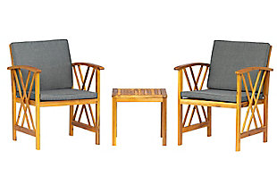 Westin Outdoor Porter 3-Piece Bistro Set With Cushions, Gray, rollover