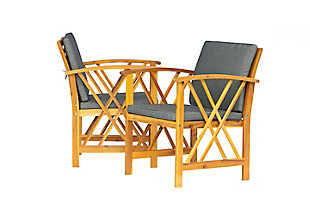 Westin Outdoor Porter 3-Piece Bistro Set With Cushions, Gray, large