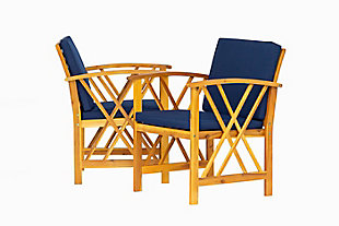 Westin Outdoor Porter 3-Piece Bistro Set With Cushions, Navy Blue, large