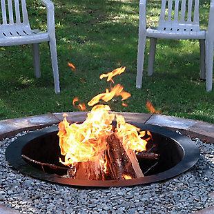 Sunnydaze Outdoor Heavy Duty Fire Pit Rim DIY In Ground Fire Pit, , rollover