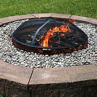 "Sunnydaze 40"" Outdoor Heavy-Duty Fire Pit Spark Screen, , rollover"