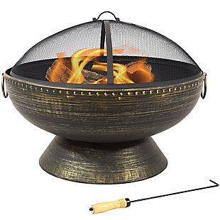 """Sunnydaze 30"""" Outdoor Firebowl Fire Pit and Accessories, , large"""