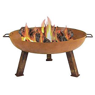 """Sunnydaze 30"""" Outdoor Rustic Cast Iron Fire Pit Bowl, , large"""