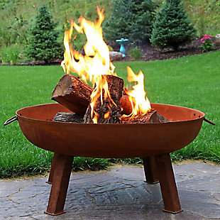 """Sunnydaze 34"""" Outdoor Large Fire Pit Bowl, , rollover"""