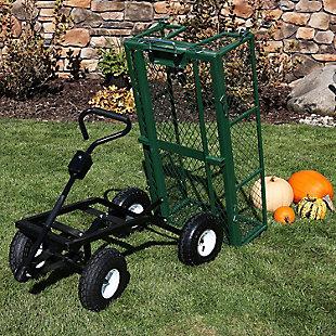Sunnydaze Outdoor Dump Utility Cart - 660lb Capacity, , rollover