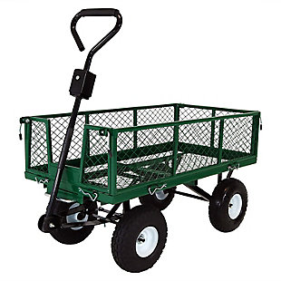 Sunnydaze Outdoor Dump Utility Cart - 660lb Capacity, , large