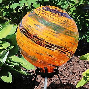 """Sunnydaze 10"""" Outdoor Sunset Sky Glass Gazing Ball Globe, , rollover"""