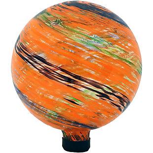 "Sunnydaze 10"" Outdoor Sunset Sky Glass Gazing Ball Globe, , large"