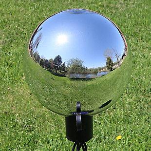 "Sunnydaze Outdoor Mirrored Garden 10"" Glass Gazing Ball Yard Décor, , rollover"