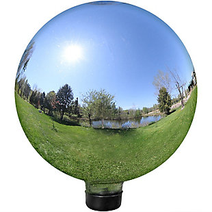 """Sunnydaze Outdoor Mirrored Garden 10"""" Glass Gazing Ball Yard Décor, , large"""