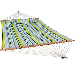 Sunnydaze Outdoor Quilted Hammock with Spreader Bars, , large