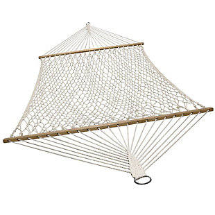 Sunnydaze Outdoor Cotton Spreader Bar Rope Hammock, , large