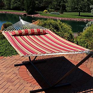 Sunnydaze Outdoor Quilted Spreader Bar Hammock, , rollover