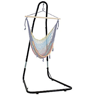 Sunnydaze Outdoor Adjustable Heavy Duty Hammock Chair Stand, , large